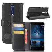 Nokia 8 flip cover i split læder Mobilcovers