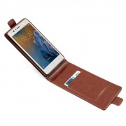Vertikal flip cover brun Nokia 3 Mobilcovers