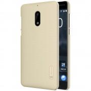 Nokia 6 cover guld med skærm beskyttelsesfilm Mobilcover