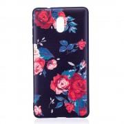 Blød cover med mønster Peony Nokia 3 Mobilcovers