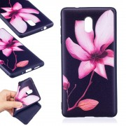 Blød cover med mønster Pink Flower Nokia 3 Mobilcovers