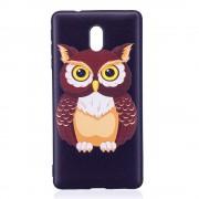 Blød cover med mønster owl Nokia 3 Mobilcovers