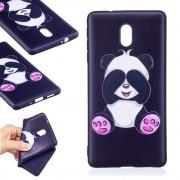 Blød cover med mønster Cute Panda Nokia 3 Mobilcovers