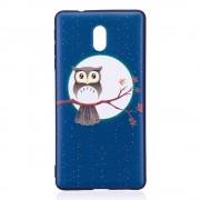 Blød cover med mønster Owl On Branch Nokia 3 Mobilcovers