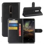 Igo flip cover sort Nokia 6.1 (2018) Mobil tilbehør
