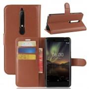 Igo flip cover brun Nokia 6.1 (2018) Mobil tilbehør