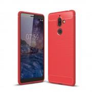 C-style armor cover rød Nokia 7 plus Mobil tilbehør