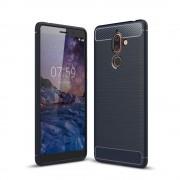 C-style armor cover blå Nokia 7 plus Mobil tilbehør