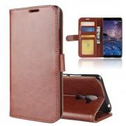 Vilo flip cover brun Nokia 7 plus Mobil tilbehør