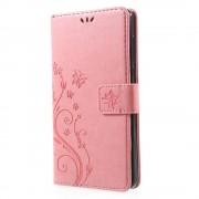 Nokia 6 mobil cover med mønster pink Mobilcover