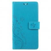 Nokia 6 mobil cover med mønster blå Mobilcover