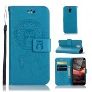 Cover med mønster blå Nokia 3.1 (2018) Mobil tilbehør