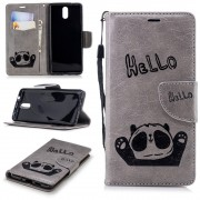 Panda cover grå Nokia 3.1 (2018) Mobil tilbehør