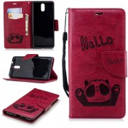 Panda cover rosa Nokia 3.1 (2018) Mobil tilbehør