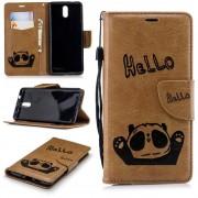 Panda cover brun Nokia 3.1 (2018) Mobil tilbehør