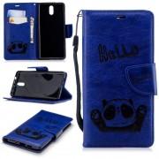 Panda cover blå Nokia 3.1 (2018) Mobil tilbehør
