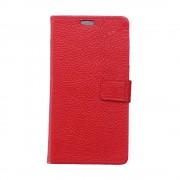Nokia 6 rød flip cover i ægte læder Mobilcover