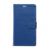 til Nokia 6 flip cover i ægte læder blå Mobilcover