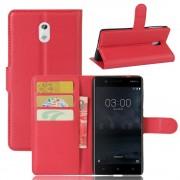 Vilo flip cover rød Nokia 3 Mobilcovers
