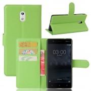 Vilo flip cover grøn Nokia 3 Mobilcovers