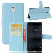 Vilo flip cover blå Nokia 3 Mobilcovers