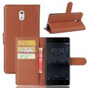 Vilo flip cover brun Nokia 3 Mobilcovers