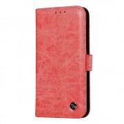 Retro flip cover rød Nokia 6 Mobilcover