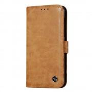 Retro flip cover brun til Nokia 6 Mobilcover