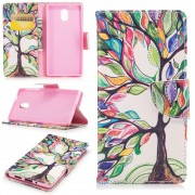 Mønstret flip cover Colorized Tree Nokia 3 Mobilcovers