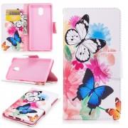 Mønstret flip cover Vivid Butterflies Nokia 3 Mobilcovers