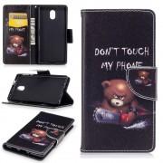 Mønstret flip cover Brown Bear Nokia 3 Mobilcovers