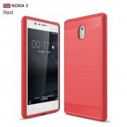 C-style armor cover rød Nokia 3 Mobilcovers