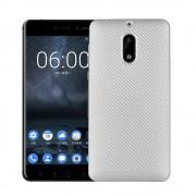 Nokia 6 cover blød tpu carbon sølv Mobilcover