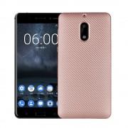 Nokia 6 cover blød tpu carbon rosaguld Mobilcover