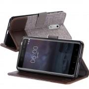 Flip cover combi brun til Nokia 6 Mobilcovers