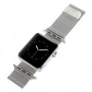 Apple Watch 42 mm sølv Milanese urrem Leveso.dk Smartwatch tilbehør