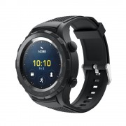 sort Sports silicone rem Huawei Watch 2 Smartwatch tilbehør
