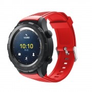 rød Sports silicone rem Huawei Watch 2 Smartwatch tilbehør