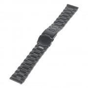 22MM rustfri stål urrem, sort Smartwatch tilbehør