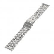 22MM rustfri stål urrem, sølv Smartwatch tilbehør