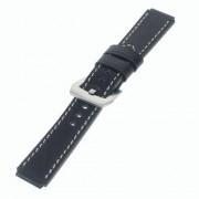 HUAWEI WATCH vintage læder urrem, sort Smartwatch tilbehør