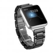 Til Apple watch 38 mm Keramisk urrem sort Smartwatch tilbehør Leveso.dk