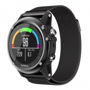 Garmin Fenix 3 luksus milanese urrem sort Smartwatch tilbehør