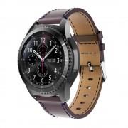 Samsung Gear S3 læder rem S-line mocca, Find Smartwatch tilbehør hos Leveso.dk