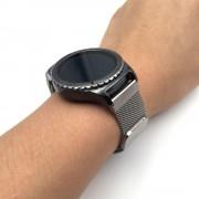 Til Samsung Gear S2 classic mesh lænke i rustfri stål sølv, Smartwatch tilbehør hos Leveso.dk