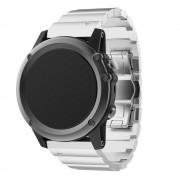 til Garmin Fenix 3 luksus rem rustfri stål sølv Smartwatch tilbehør