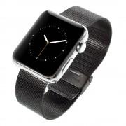 Til Apple Watch 38 mm lænke Mesh sort Smartwatch tilbehør