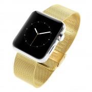 Guld rem til Apple Watch 38 mm lænke Mesh Smartwatch tilbehør