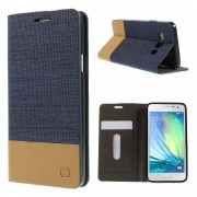Cover med kort lomme blå Galaxy A3 Mobil tilbehør