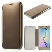 Galaxy S6 edge clear view cover guld Mobil tilbehør